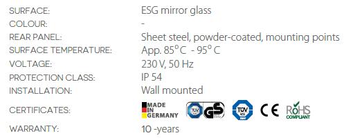 best far infrared heater mirror